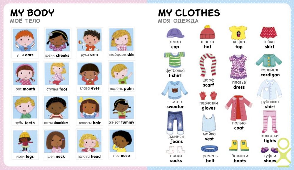 Слова первый английский для малыша